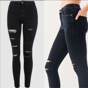 Silence+Noise🇺🇸High Rise Skinny Destroyed Jeans